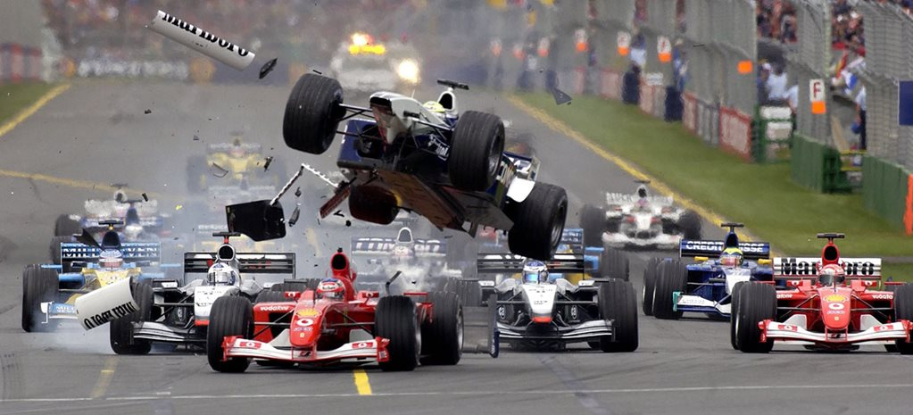 Ralf Schumacher crash 2002 Australian Grand Prix wide