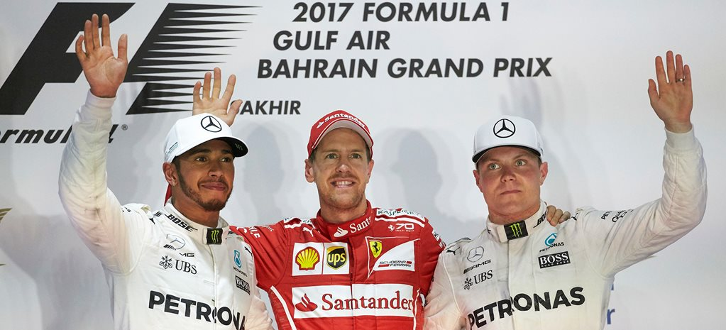 2017 Bahrain Grand Prix podium wide