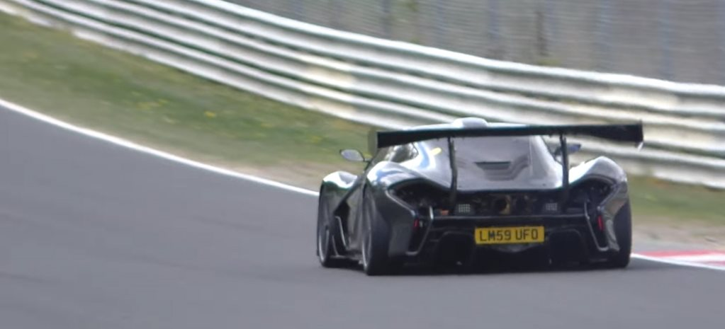 McLaren P1 LM spied vying for Nurburgring lap record, shooting sparks