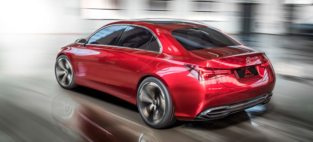 Mercedes Benz Concept A rear action w
