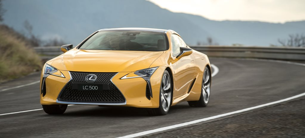 2017 lexus lc500 aust front side action w