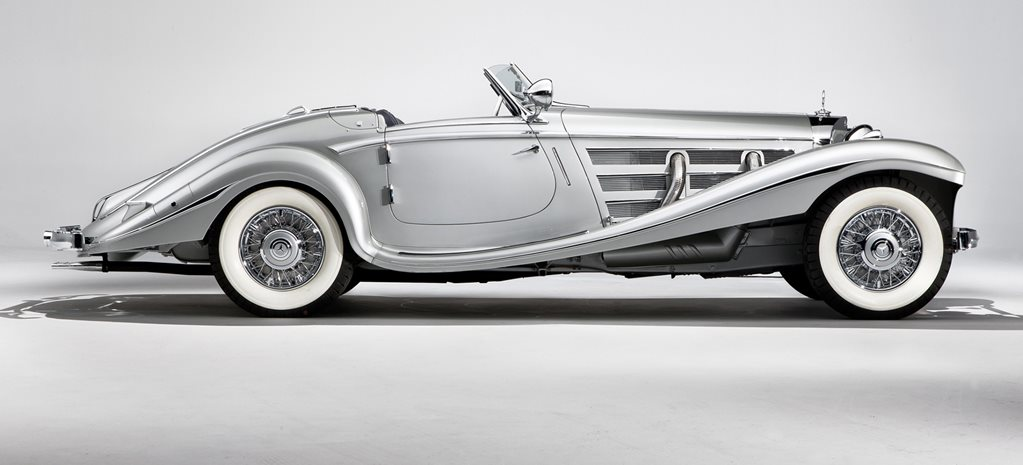 Retro 1936 Mercedes Benz 540k Silver Arrow Special