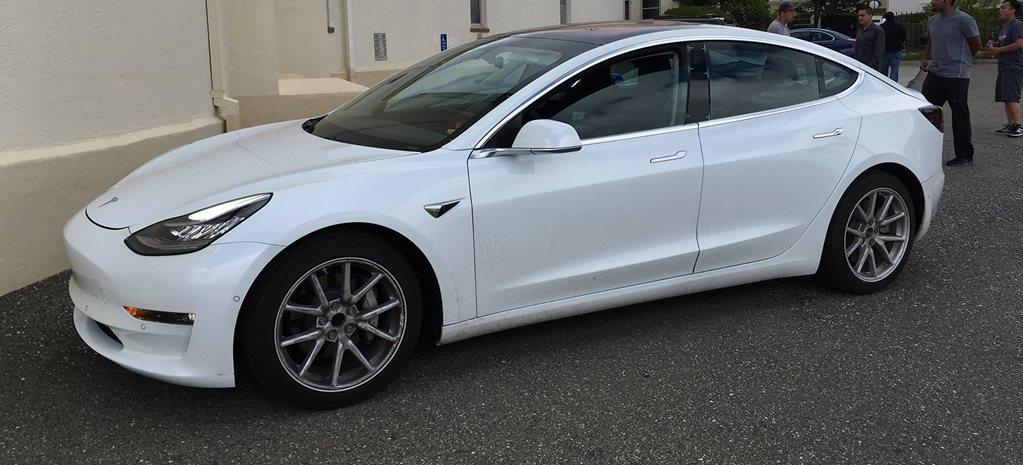 2018 Tesla Model 3 Interior Spied