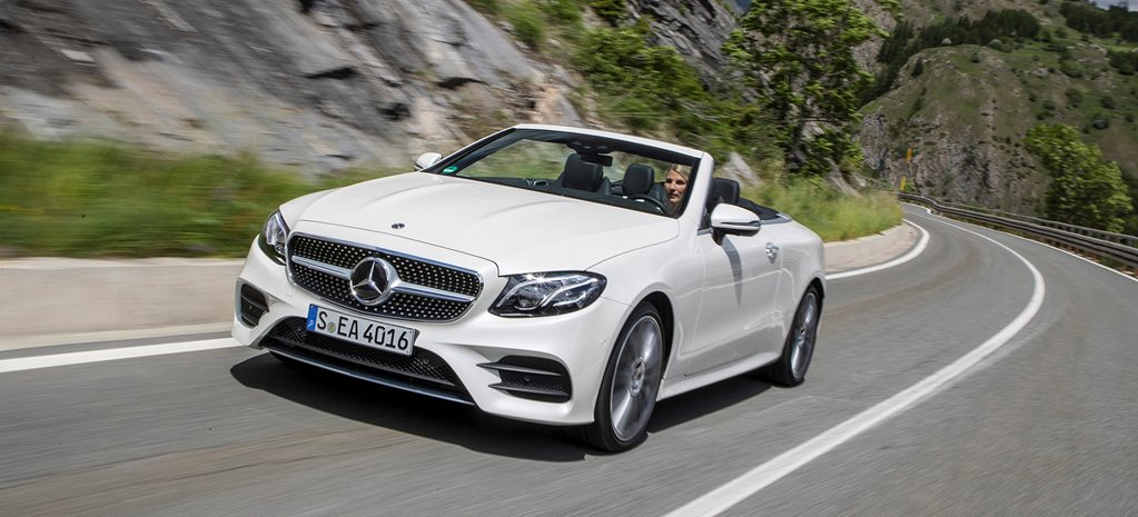 2018 Mercedes Benz E400 Cabrio Front Side Action Wide