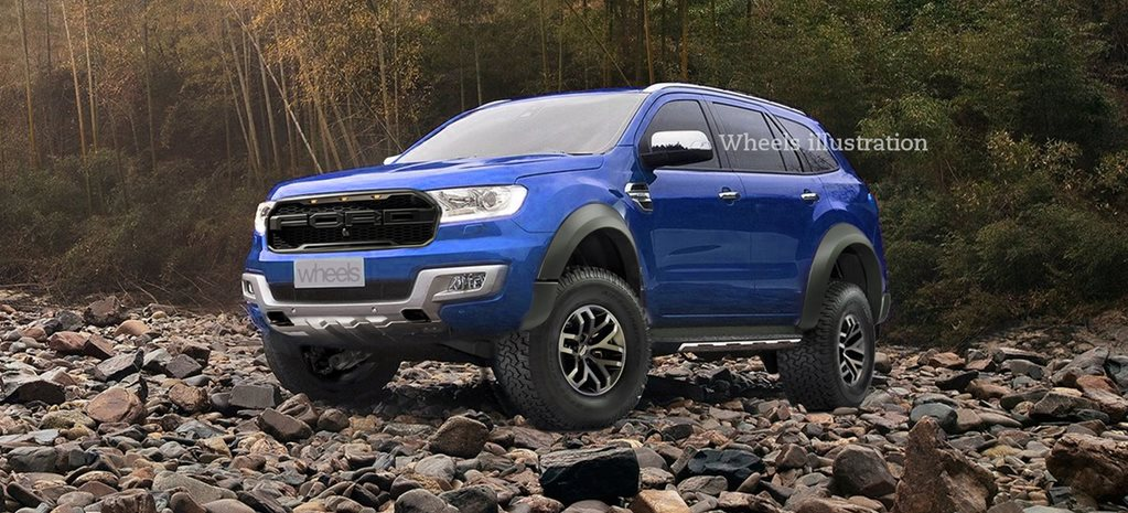2018 Ford Everest Raptor imagined