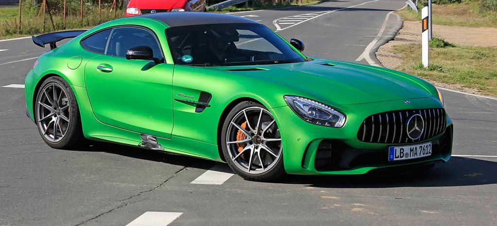2018 Mercedes-AMG GT Black Series spied testing