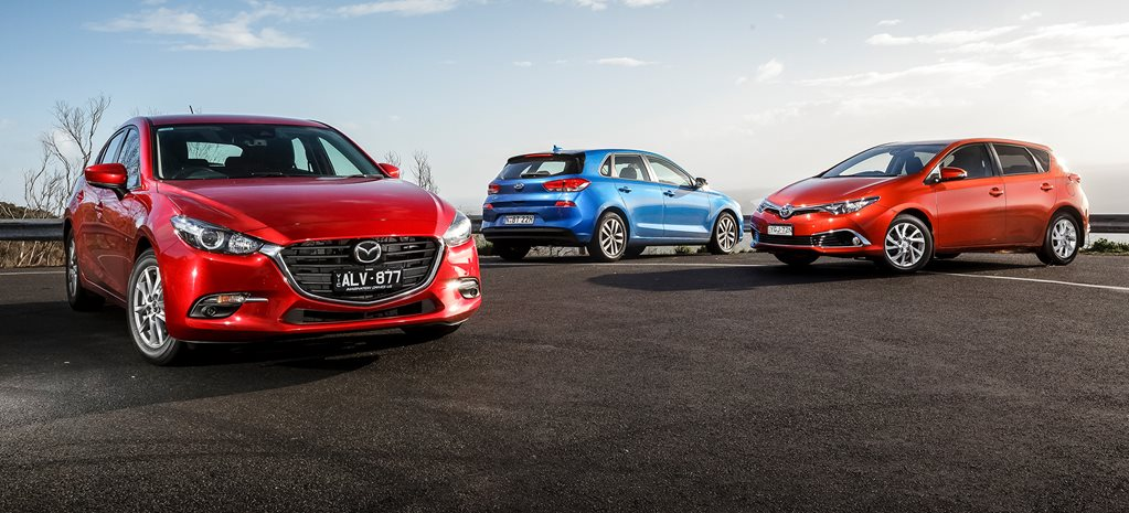 Mazda 3 Maxx vs Hyundai i30 Active vs Toyota Corolla Ascent Sport