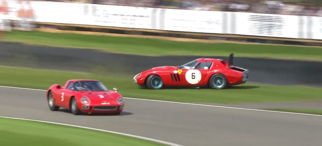 Watch a Ferrari 250 GTO getting binned at Goodwood