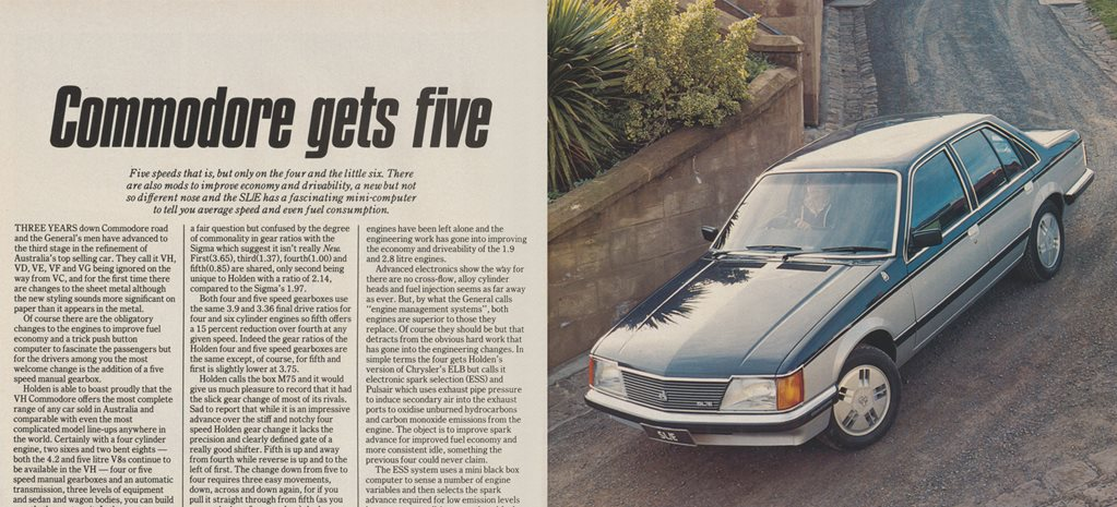 1981 Holden Commodore: Commodore gets five