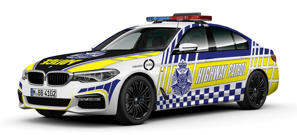 VicPol bmw 530d wide