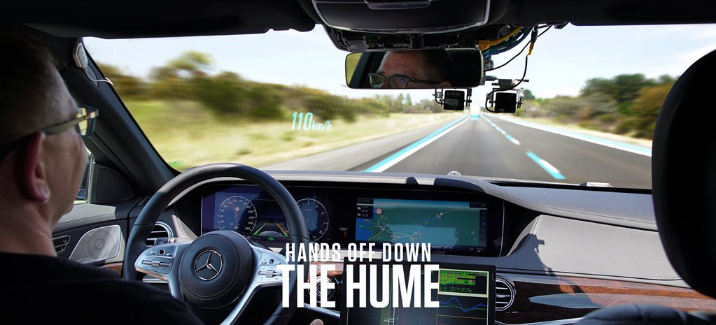 We ride shotgun in an autonomous Mercedes S-class