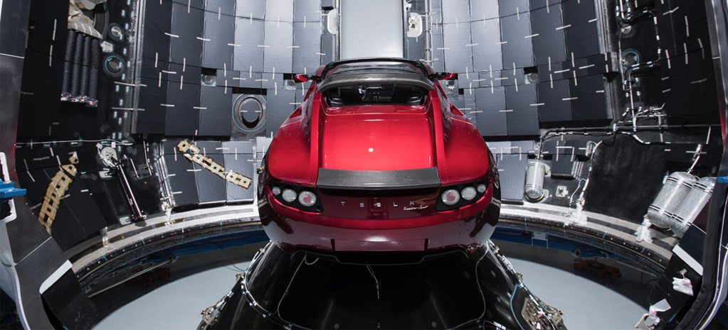 Elon Musk sends Tesla Roadster into space