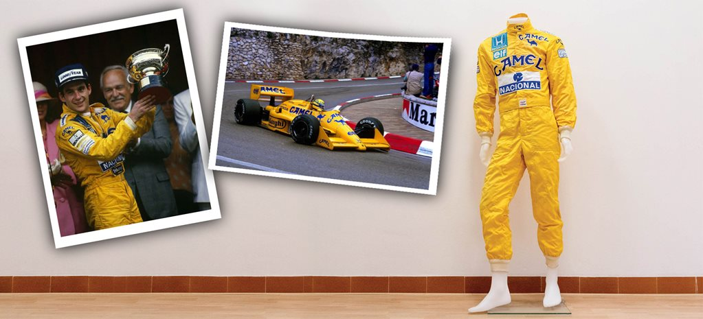 For Sale Ayrton Senna race suit from 1987 Monaco GP