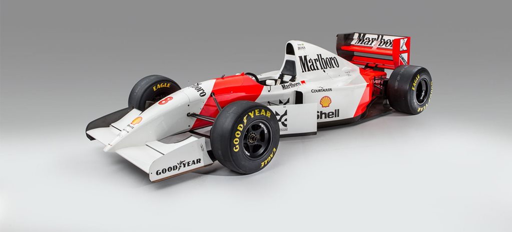 The 1993 Monaco Grand Prix winning McLaren MP4/8 was sold at auction