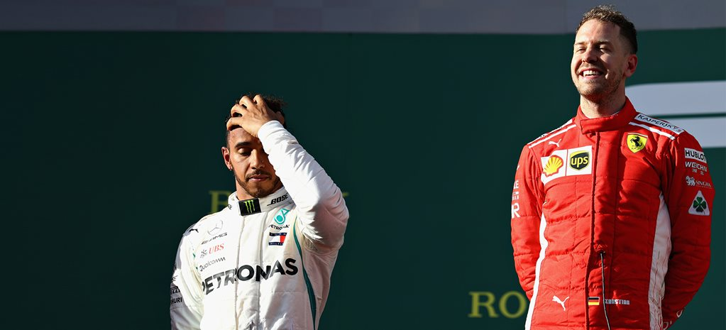 Vettel trumps 'party mode' Hamilton at Australian Grand Prix