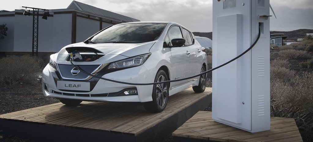 2018 Nissan Leaf electric car recharging 12