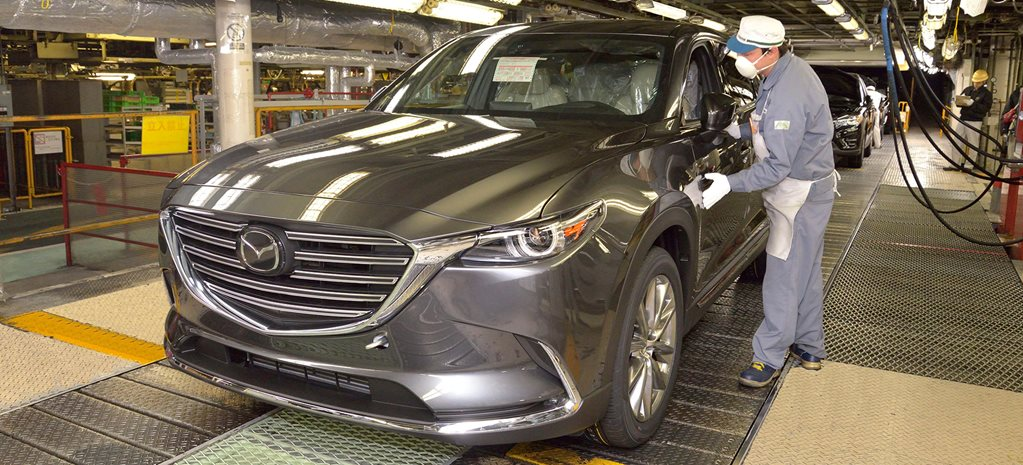 Brand-new Mazda CX-9 begins production