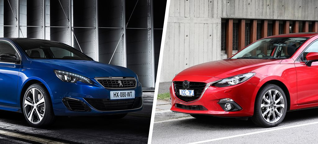 Peugeot 308 GT Diesel v Mazda3 XD Astina comparison review
