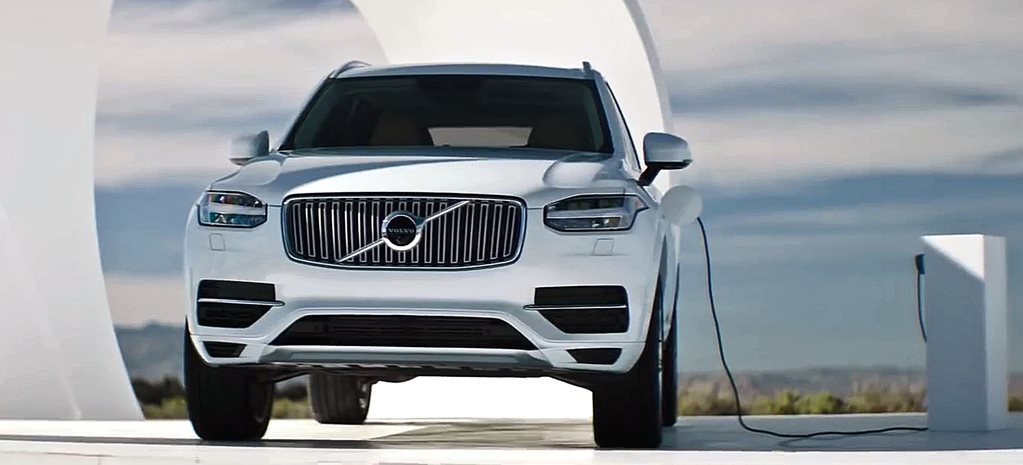 Volvo XC90 hybrid is charged by other cars