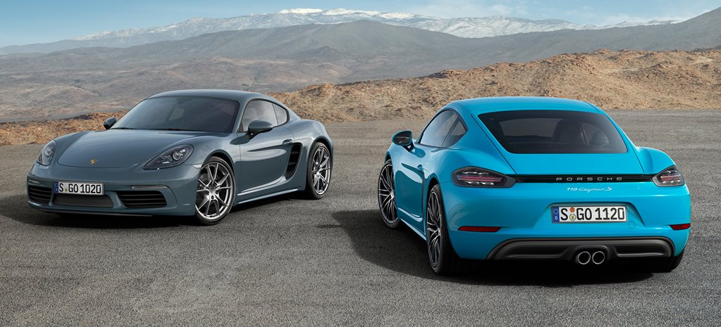 Porsche Cayman gets smaller engines and bigger power