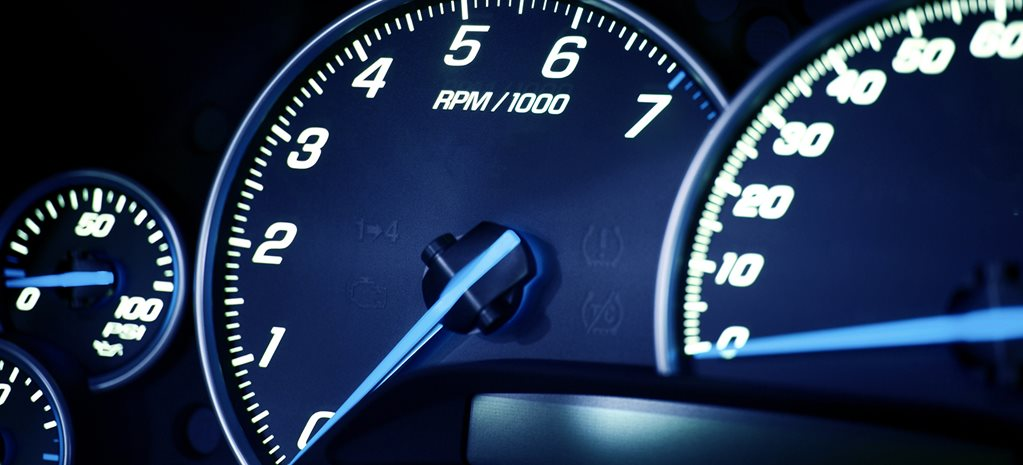 RPM gauge on instrument cluster