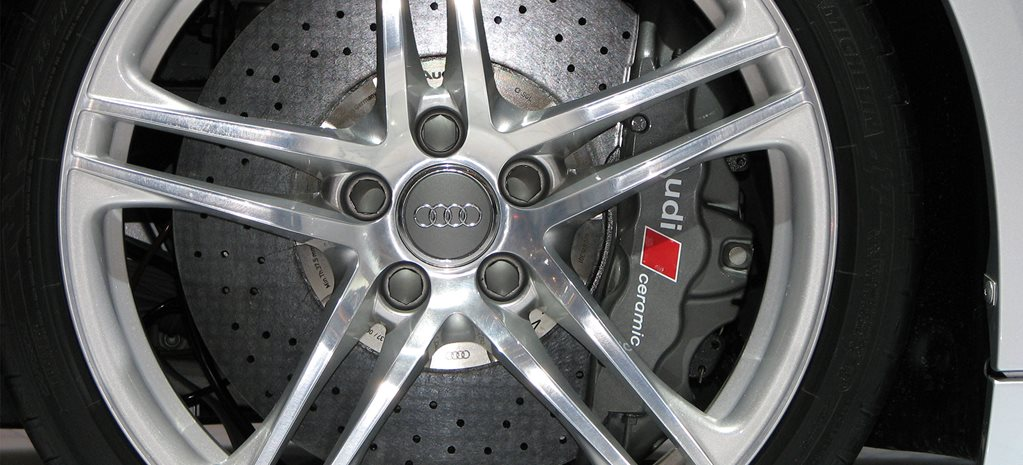 Audi R8 wheel, brake rotor and caliper