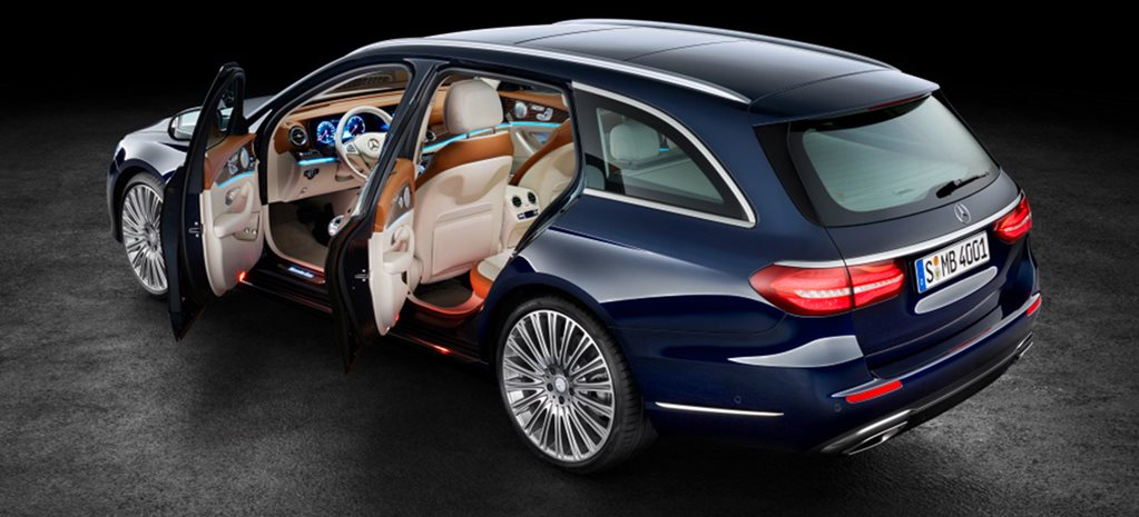 Mercedes-Benz E-Class Estate rear doors open