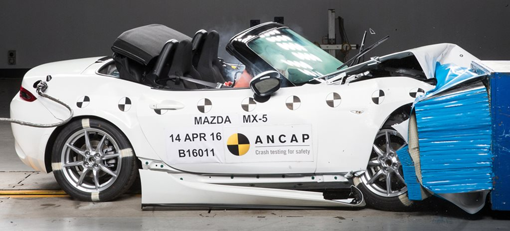 Mazda MX-5 awarded 5 stars in ANCAP crash test