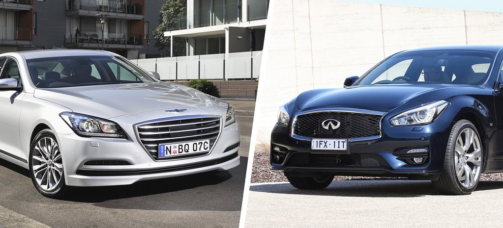 Hyundai Genesis and Infiniti Q70