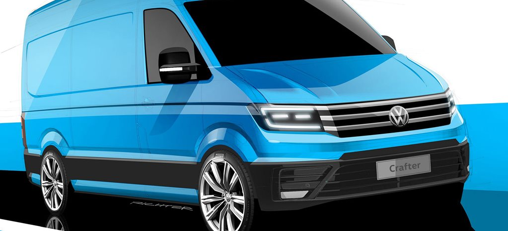 2017 volkswagen crafter van revealed in sketches. Black Bedroom Furniture Sets. Home Design Ideas