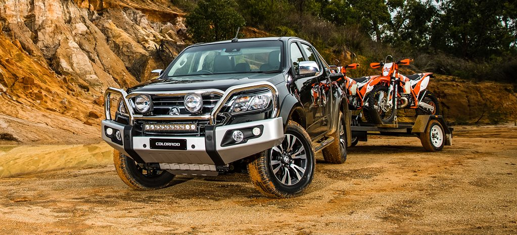 Holden Colorado towing bikes