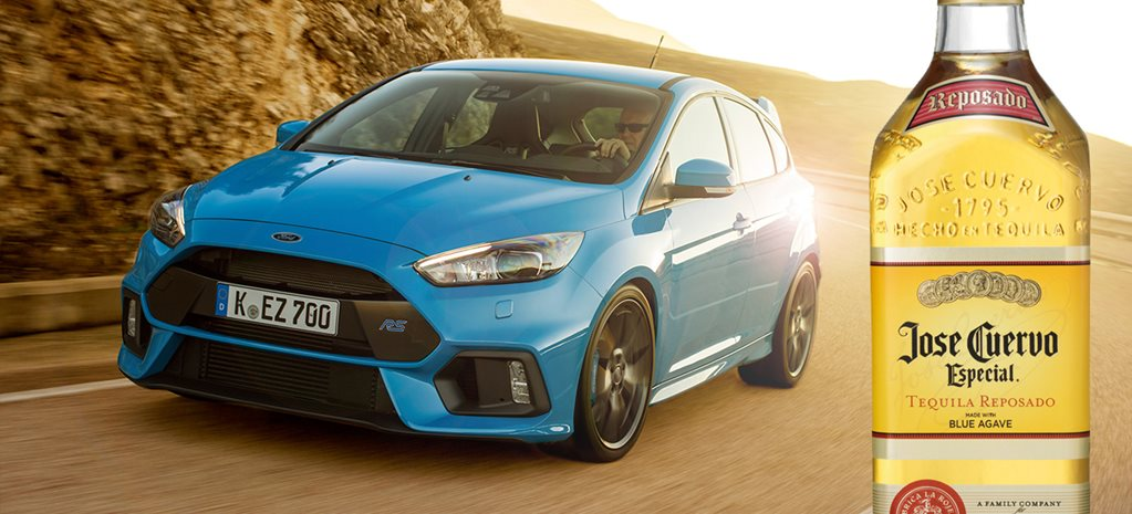 Ford Focus RS with tequila