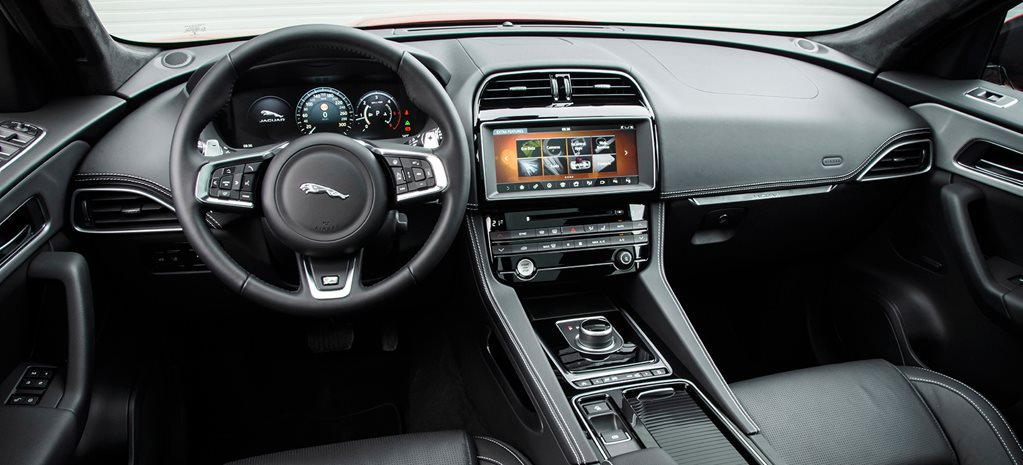 Jaguar interior and infotainment system