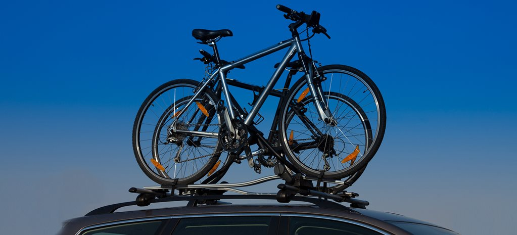 Bikes on car roof racks