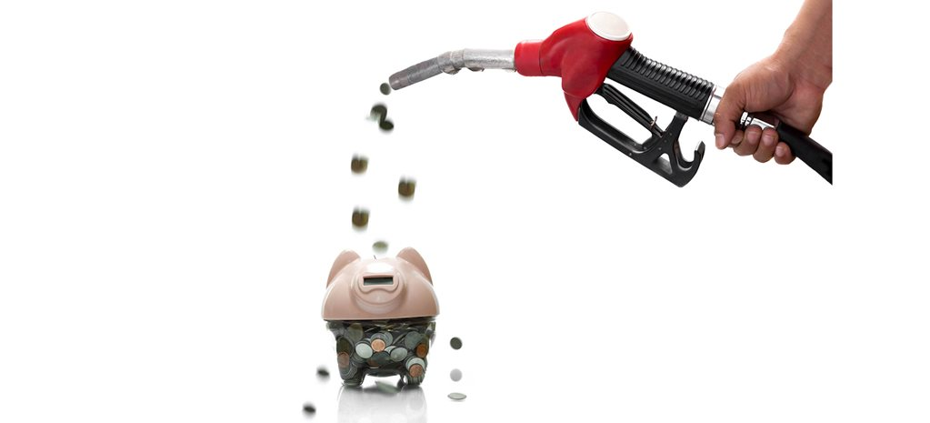 fuel pump with money