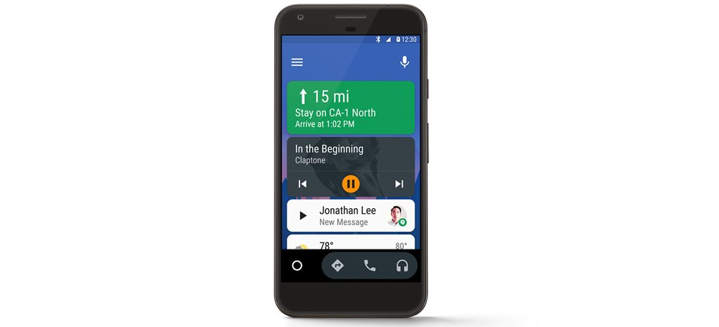mobile phone with Android Auto