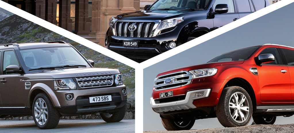 2016 Toyota LandCruiser Prado vs Land Rover Discovery  vs Ford Everest review