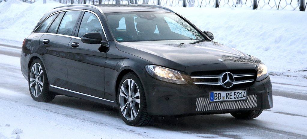 2018 Mercedes Benz C Class Estate Facelift Spied
