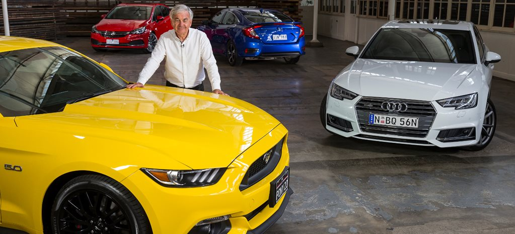 Paul Beranger with Ford Mustang at WhichCar Style Awards