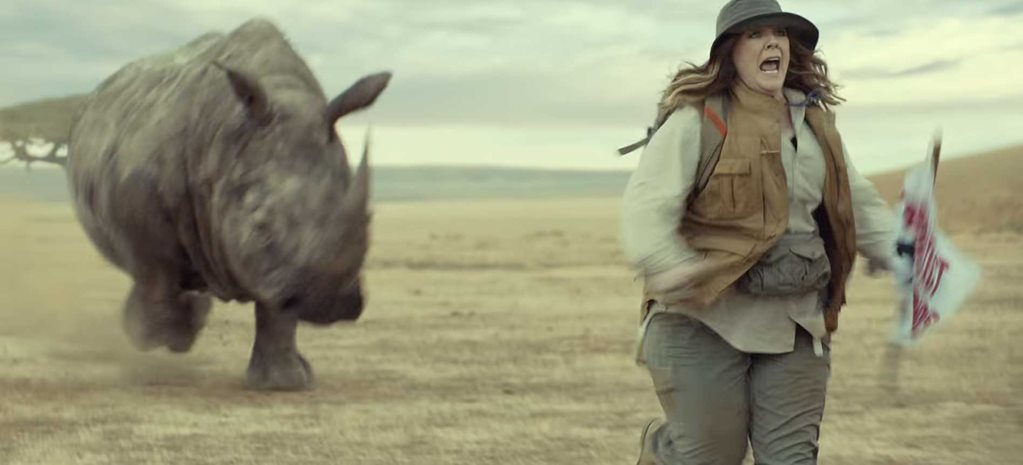 Melissa McCarthy Rhino Super Bowl Commercial for Kia