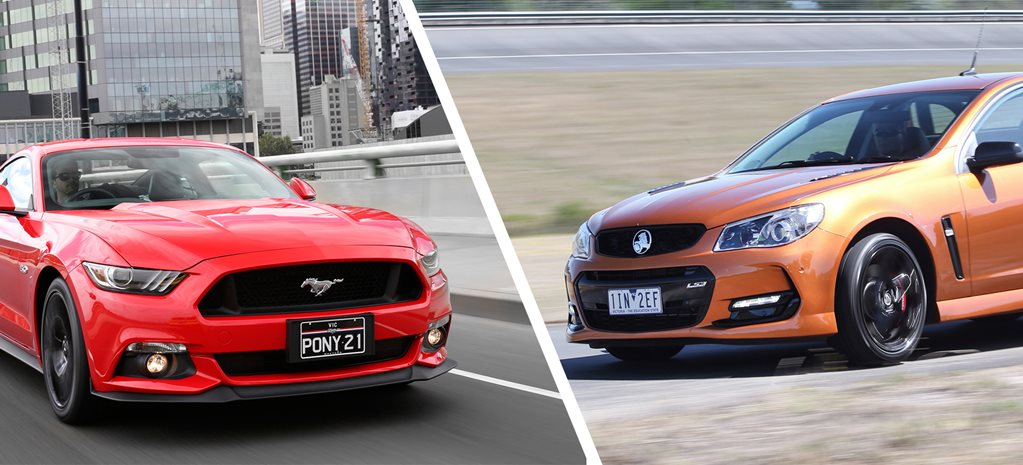 Ford Mustang GT Fastback vs Holden Commodore SS-V Redline Ute Comparison Review