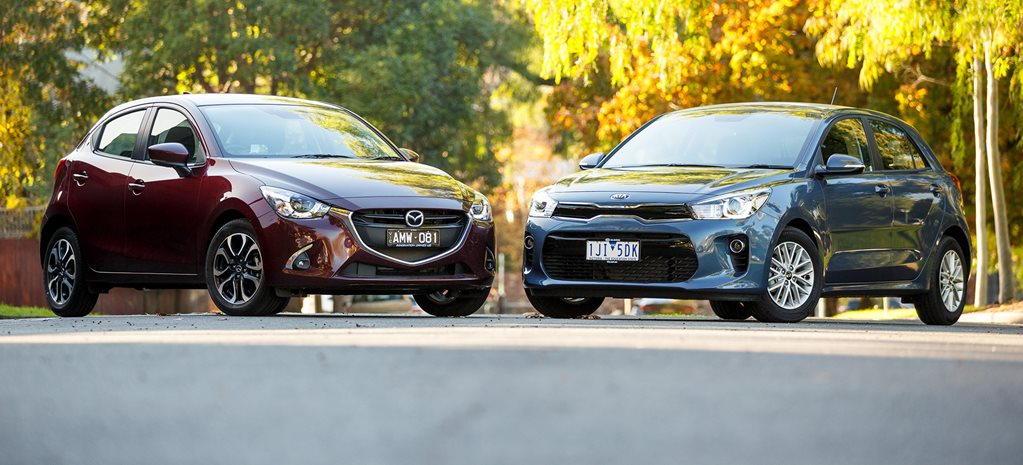 2017 Kia Rio Si v Mazda 2 Genki light hatch comparison review