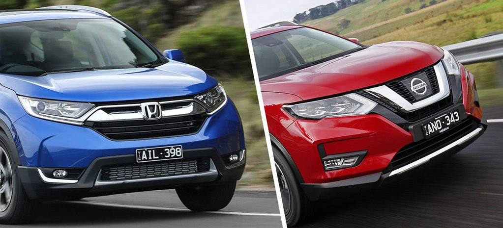 2017 Honda CR-V VTI-L v 2017 Nissan X-Trail ST-L comparison review