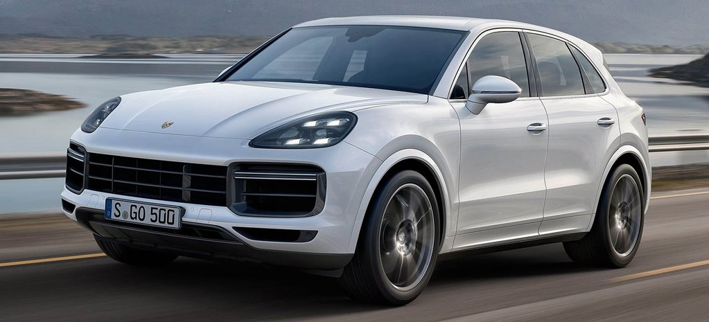 Porsche Cayenne Turbo white