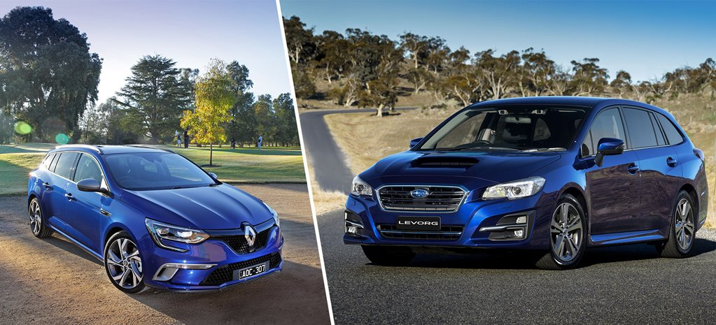 2017 Renault Megane GT Wagon v Subaru Levorg GT comparison review