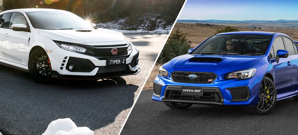Honda Civic Type R v Subaru WRX STi comparison review