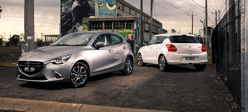 Suzuki GLX Turbo v Mazda2 GT comparison review