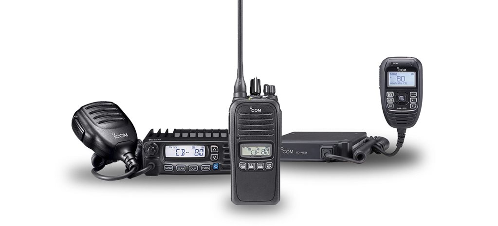 Icom UHF CB Series range feature