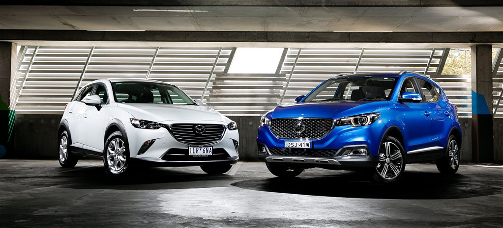 Mazda CX-3 Maxx v MG ZS Essence comparison review