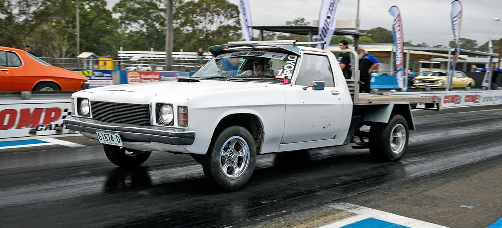 LS-powered HQ One Tonner at Drag Challenge Weekend 2018